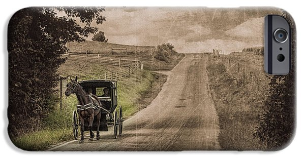 Old Country Roads Photographs iPhone Cases - Riding Down a Country Road iPhone Case by Tom Mc Nemar