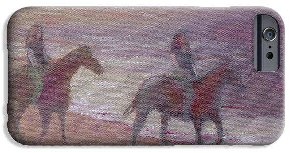 Beach iPhone Cases - Riding iPhone Case by Mary Hubley
