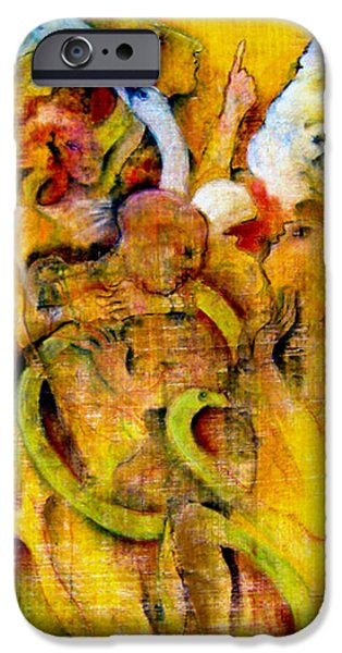 Serpent Pastels iPhone Cases - Riding On The Pre Dawn Wind iPhone Case by Josie Taglienti