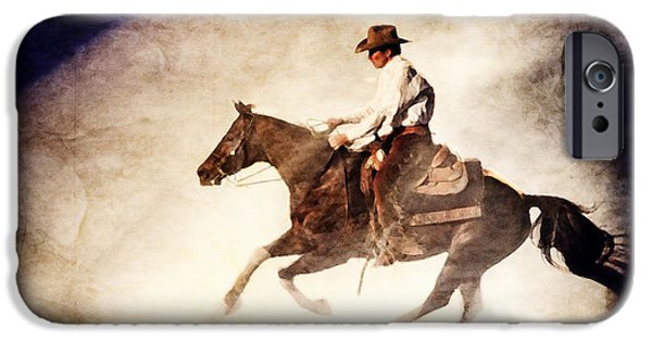 True Grit iPhone Cases - Riding the Light iPhone Case by Lincoln Rogers