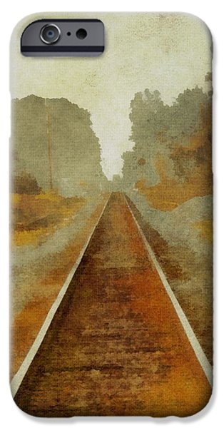 Great Mysteries iPhone Cases - Riding The Rails iPhone Case by Dan Sproul