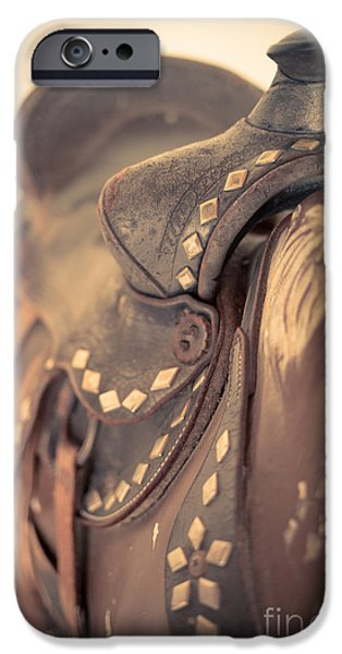 Operating iPhone Cases - Riding the saddle again iPhone Case by Edward Fielding