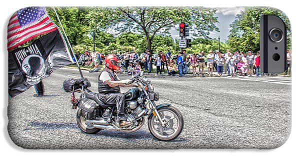 Patriots iPhone Cases - Riding to Support Our Troops iPhone Case by Tom Gari Gallery-Three-Photography