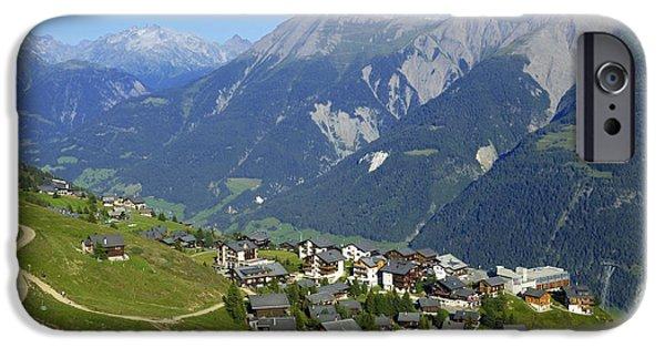 Swiss Photographs iPhone Cases - Riederalp Valais Swiss Alps Switzerland iPhone Case by Matthias Hauser