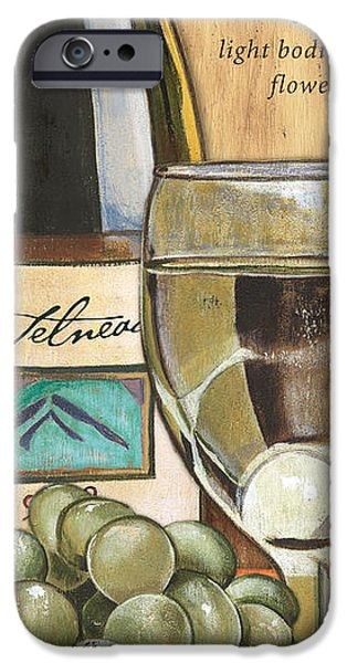 Wine Bottles Paintings iPhone Cases - Riesling iPhone Case by Debbie DeWitt