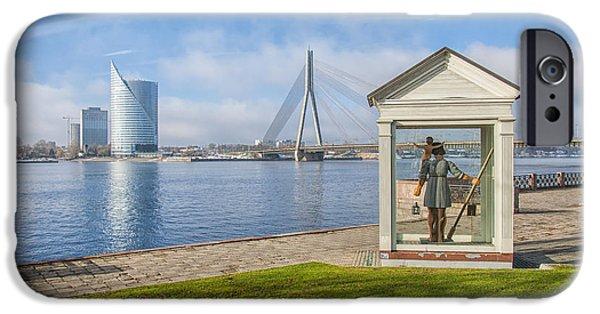 Saint Christopher iPhone Cases - Riga Big Christopher iPhone Case by Antony McAulay