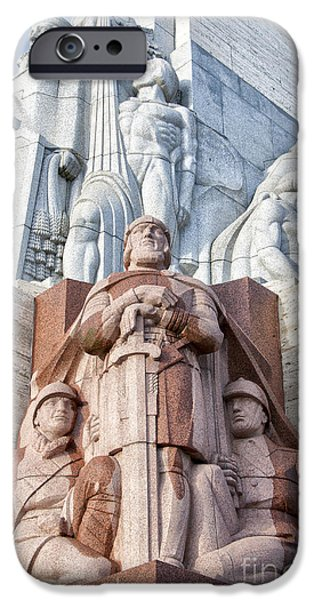 Star Alliance Photographs iPhone Cases - Riga Freedom Monument 02 iPhone Case by Antony McAulay