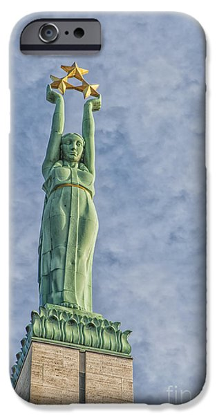 Star Alliance Photographs iPhone Cases - Riga Freedom Monument 04 iPhone Case by Antony McAulay