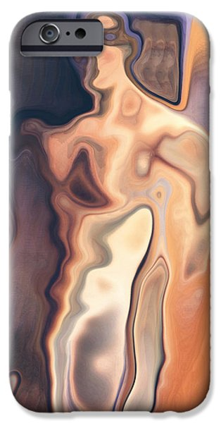 Abstract Digital iPhone Cases - The man Bertolt Brecht iPhone Case by Joaquin Abella