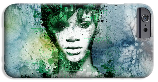 Rihanna iPhone Cases - Rihanna 4 iPhone Case by MB Art factory