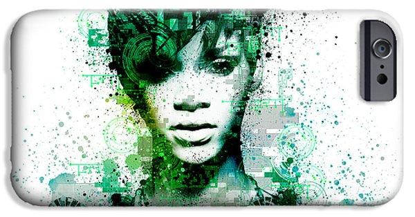 Rihanna iPhone Cases - Rihanna 5 iPhone Case by MB Art factory