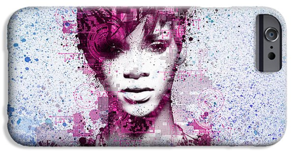 Rihanna iPhone Cases - Rihanna 8 iPhone Case by MB Art factory