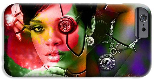 Rihanna iPhone Cases - Rihanna iPhone Case by Marvin Blaine