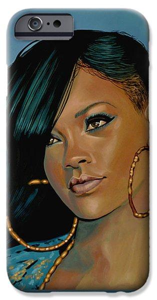 Rihanna iPhone Cases - Rihanna iPhone Case by Paul  Meijering