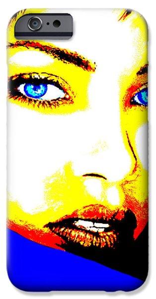 Rihanna iPhone Cases - Rihanna Pop iPhone Case by Victor Minca