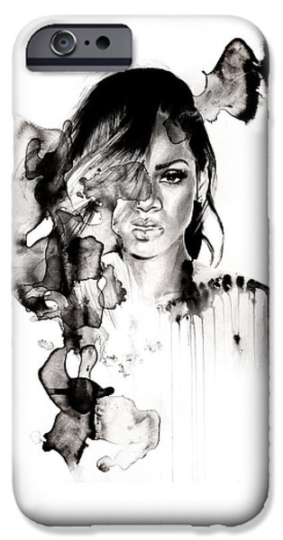 Rihanna iPhone Cases - Rihanna Stay iPhone Case by Molly Picklesimer