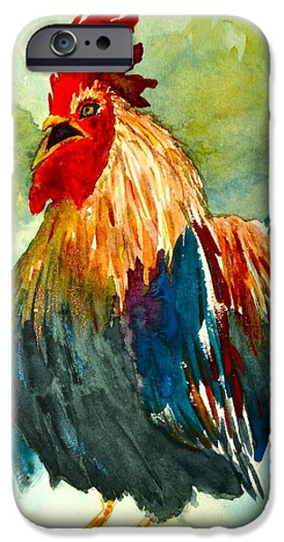 Flashy Paintings iPhone Cases - Riled Up iPhone Case by Beverley Harper Tinsley