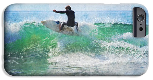 Rincon Beach iPhone Cases - Rincon 3 iPhone Case by Beth Taylor