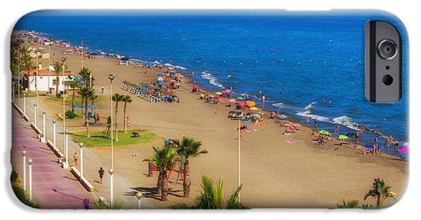 Rincon Beach iPhone Cases - Rincon de la Victoria Beach - Andalusia Spain iPhone Case by Mountain Dreams