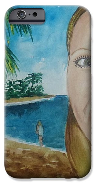 Rincon Girl iPhone Case by Frank Hunter