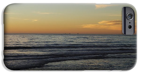 Rincon Beach iPhone Cases - Rincon Ventura California  iPhone Case by Gina Braget