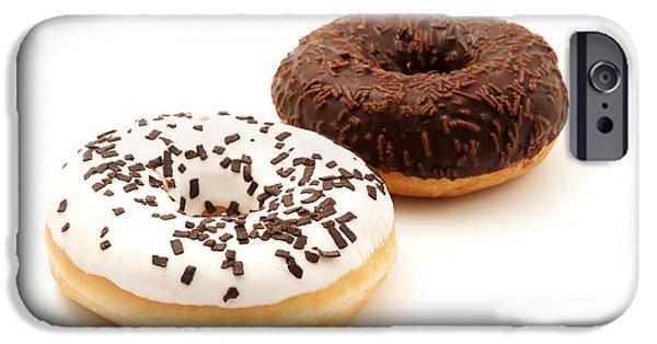 Doughnuts iPhone Cases - Ring doughnuts iPhone Case by Fabrizio Troiani