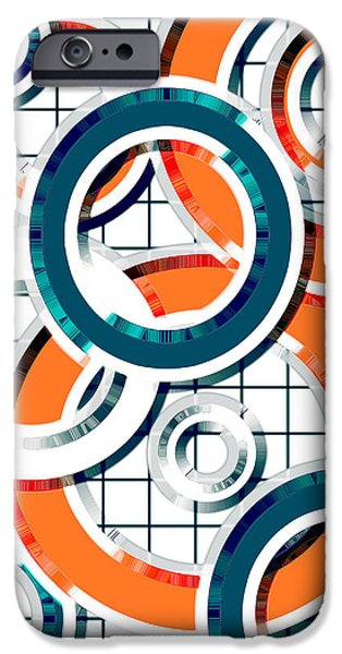 Asymmetrical iPhone Cases - Ring Toss 1 iPhone Case by Shawna  Rowe