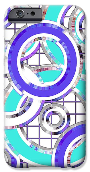 Asymmetrical iPhone Cases - Ring Toss 2 iPhone Case by Shawna  Rowe
