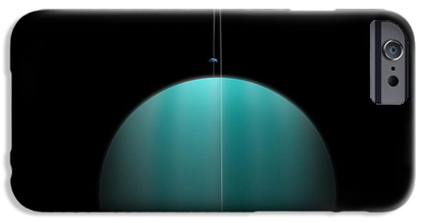 Recently Sold -  - Moonscape iPhone Cases - Ringed World No.4 iPhone Case by Marc Ward
