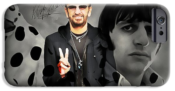 Recently Sold -  - Airbrush iPhone Cases - Ringo Star iPhone Case by Marvin Blaine