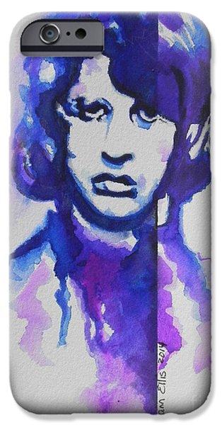Beatles iPhone Cases - Ringo Starr 02 iPhone Case by Chrisann Ellis
