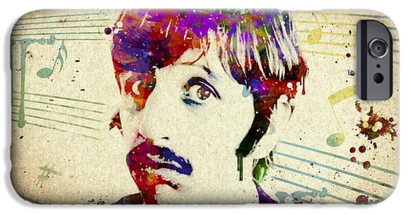 Starr iPhone Cases - Ringo Starr iPhone Case by Aged Pixel