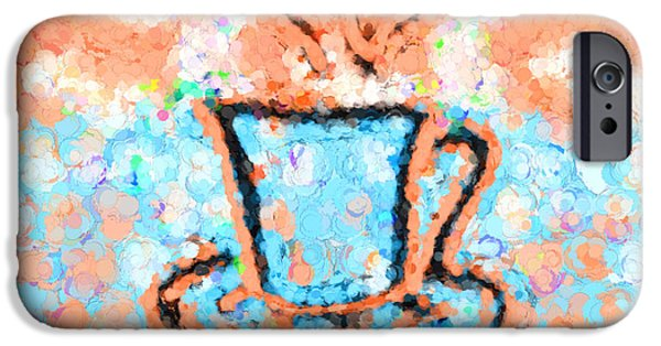 Graphic Design iPhone Cases - Rings Around the Cup iPhone Case by Jo-Anne Gazo-McKim
