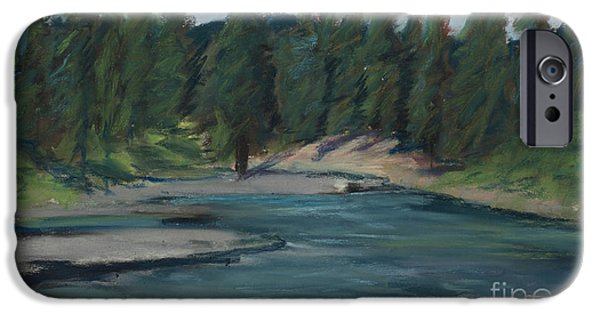 River View Pastels iPhone Cases - Rio Blanco iPhone Case by Mary Benke