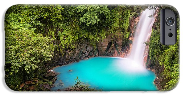 Best Sellers -  - Flora iPhone Cases - Rio Celeste Waterfall iPhone Case by Andres Leon