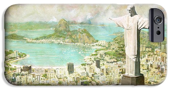 Ruins iPhone Cases - Rio de Janeiro iPhone Case by Catf
