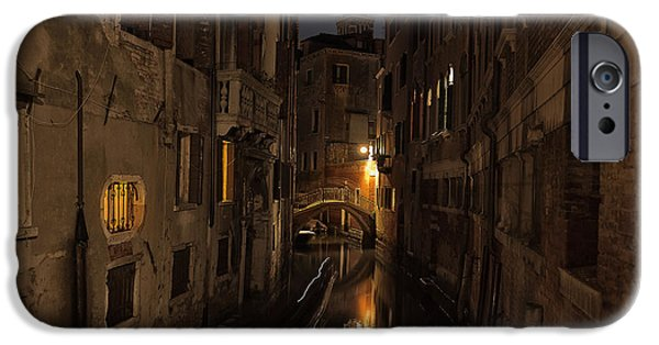 Venetian Canals iPhone Cases - Rio della Verona iPhone Case by Marion Galt