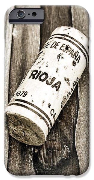 Vino Photographs iPhone Cases - Rioja Wine Cork iPhone Case by Frank Tschakert
