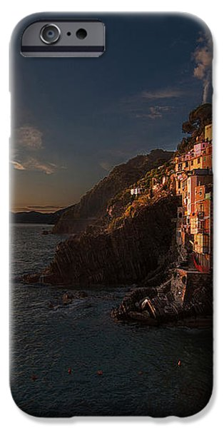 Riomaggiore Peaceful Sunset iPhone Case by Mike Reid
