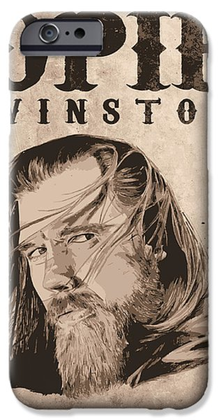 Kim Drawings iPhone Cases - R.I.P. Opie iPhone Case by Kyle Willis