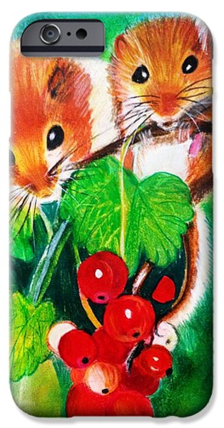 Little iPhone Cases - Ripe-n-Ready Cherry Tomatoes iPhone Case by Renee Michelle Wenker