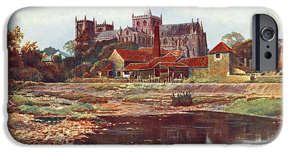 Nineteenth iPhone Cases - Ripon Cathedral, Ripon, North iPhone Case by Ken Welsh