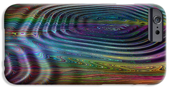 Red Abstract iPhone Cases - Ripple FX 3 iPhone Case by Wendy J St Christopher
