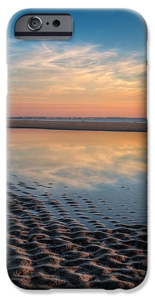 Ripples in the Sand iPhone Case by Debra and Dave Vanderlaan