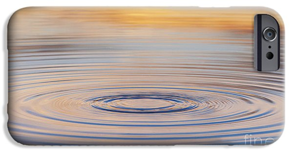 Fiery iPhone Cases - Ripples on a Still Pond iPhone Case by Tim Gainey