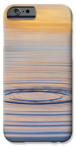 Ripples on a Still Pond iPhone Case by Tim Gainey