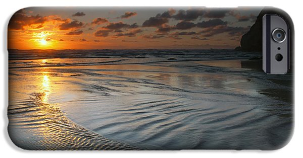 Ebb iPhone Cases - Ripples on the Beach iPhone Case by Mike  Dawson