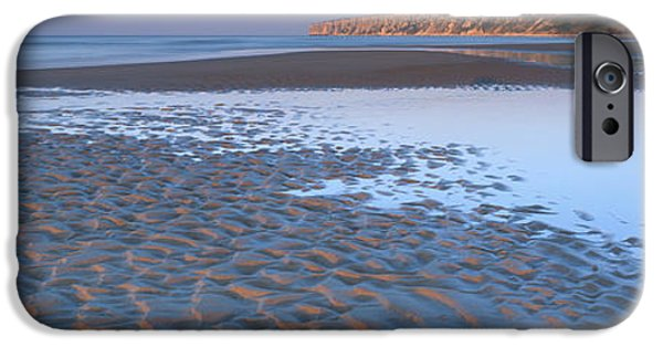 North Sea iPhone Cases - Ripples On The Sand, Speeton, North iPhone Case by Panoramic Images