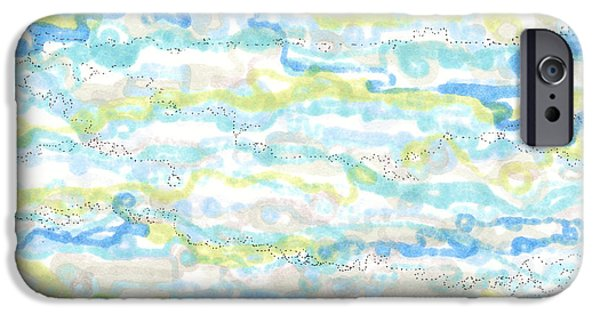 Disc Drawings iPhone Cases - Ripples iPhone Case by Regina Valluzzi