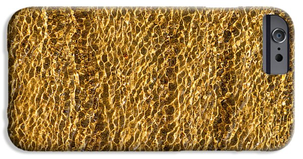 Sand Patterns iPhone Cases - Golden Ripples iPhone Case by Wim Lanclus
